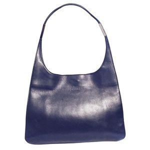Gucci black leather vintage hobo handbag